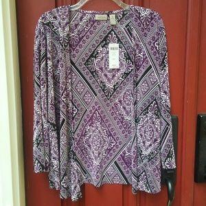Chico's Purple Spice cardigan Size 1 (M/8)